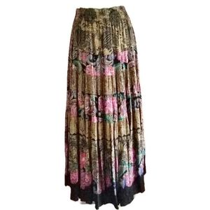 1980s Carole Little Tiered Vintage Peasant Skirt